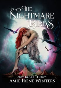 The cover of Nightmare Birds, book two in the Strange Luck series by Amie Irene Winters
