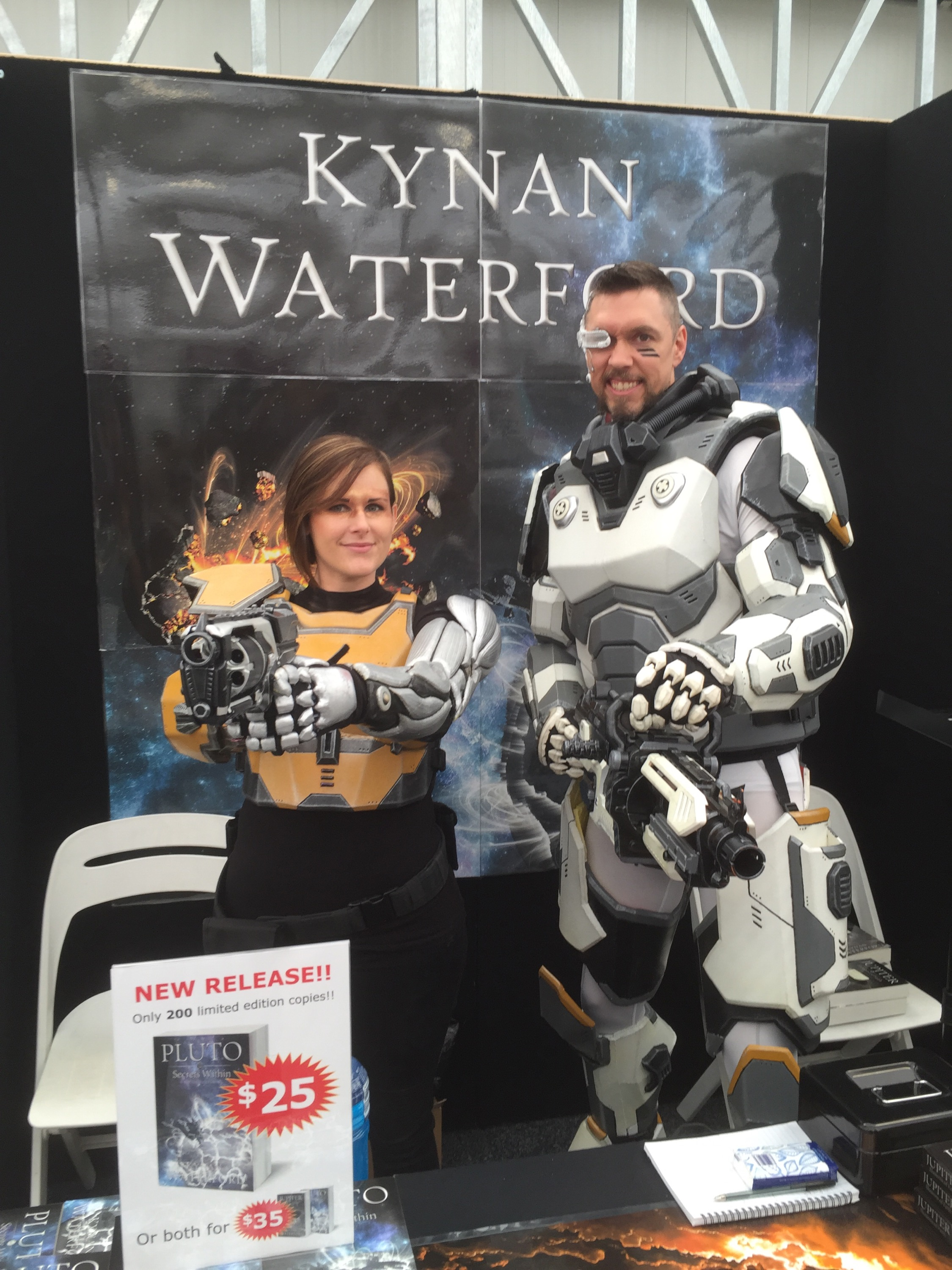 Kynan Waterford and partner in costume at OzComicCon.
