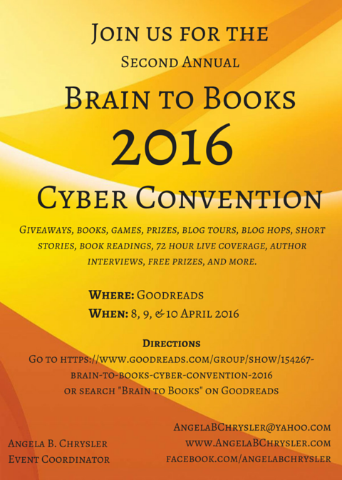 Brain to Books Cyber Convention flyer