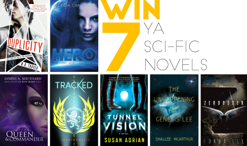 Win 7 YA sci-fi novels, signed by the authors!