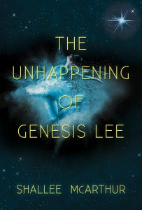 The cover of The Unhappening of Genesis Lee