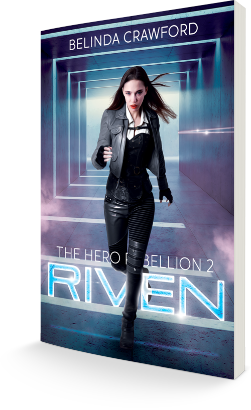 The cover of Riven (The Hero Rebellion 2)
