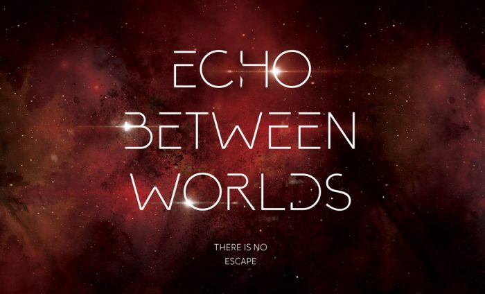 The cover of Echo Between Worlds, the last book in The Echo trilogy by Belinda Crawford.